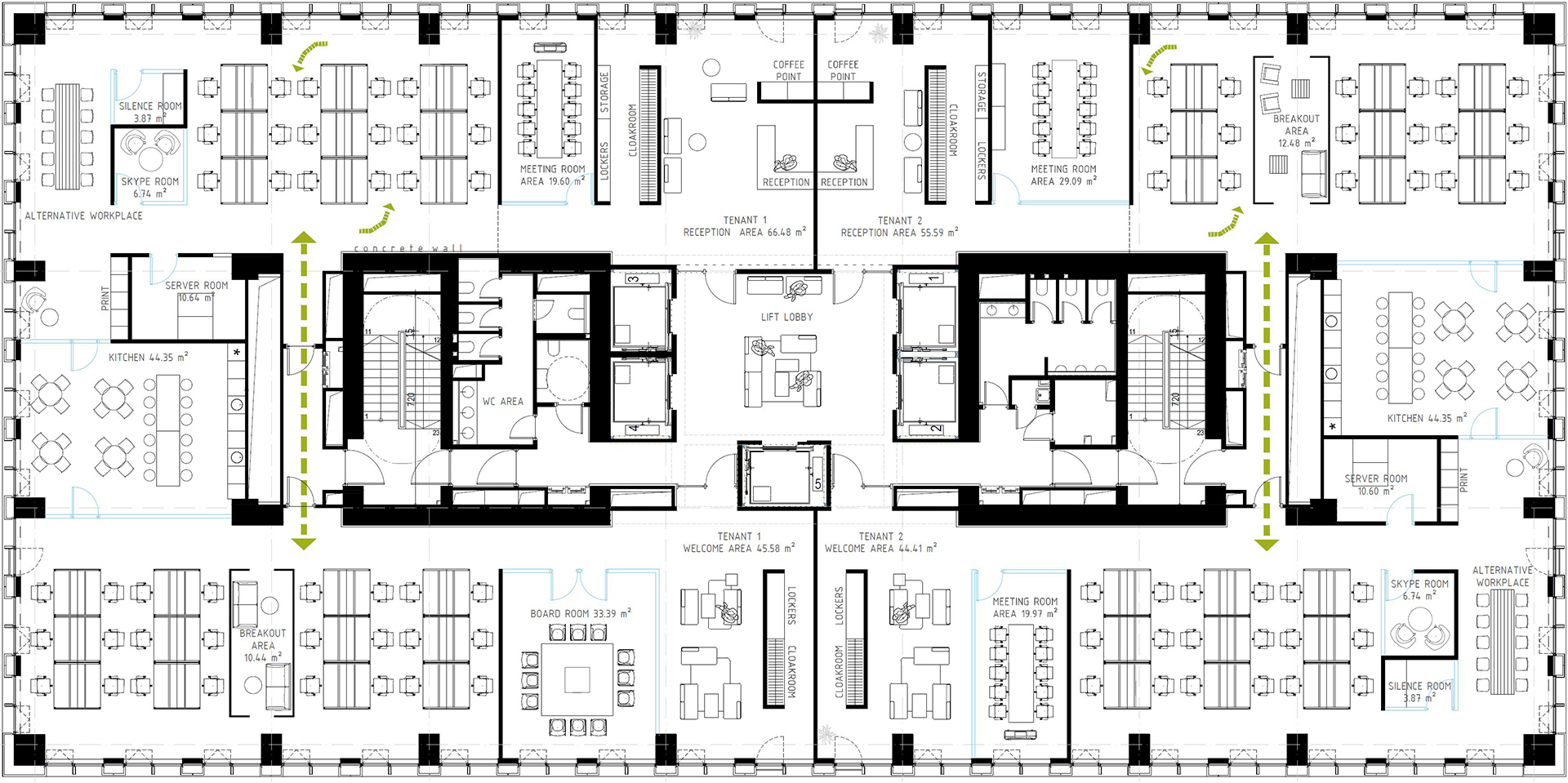 open space floor plans office timpuri noi square 21141